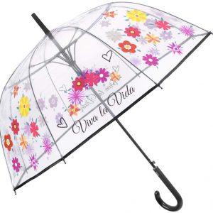 Paraguas Baston Automático Parletti Flores 26072