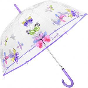 Paraguas Parletti Transparente Mariposas 26070